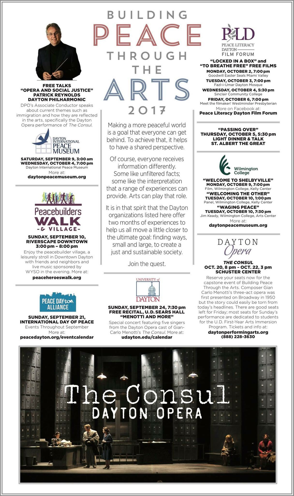 Building Peace Through The Arts, Dayton Daily Newspaper ad