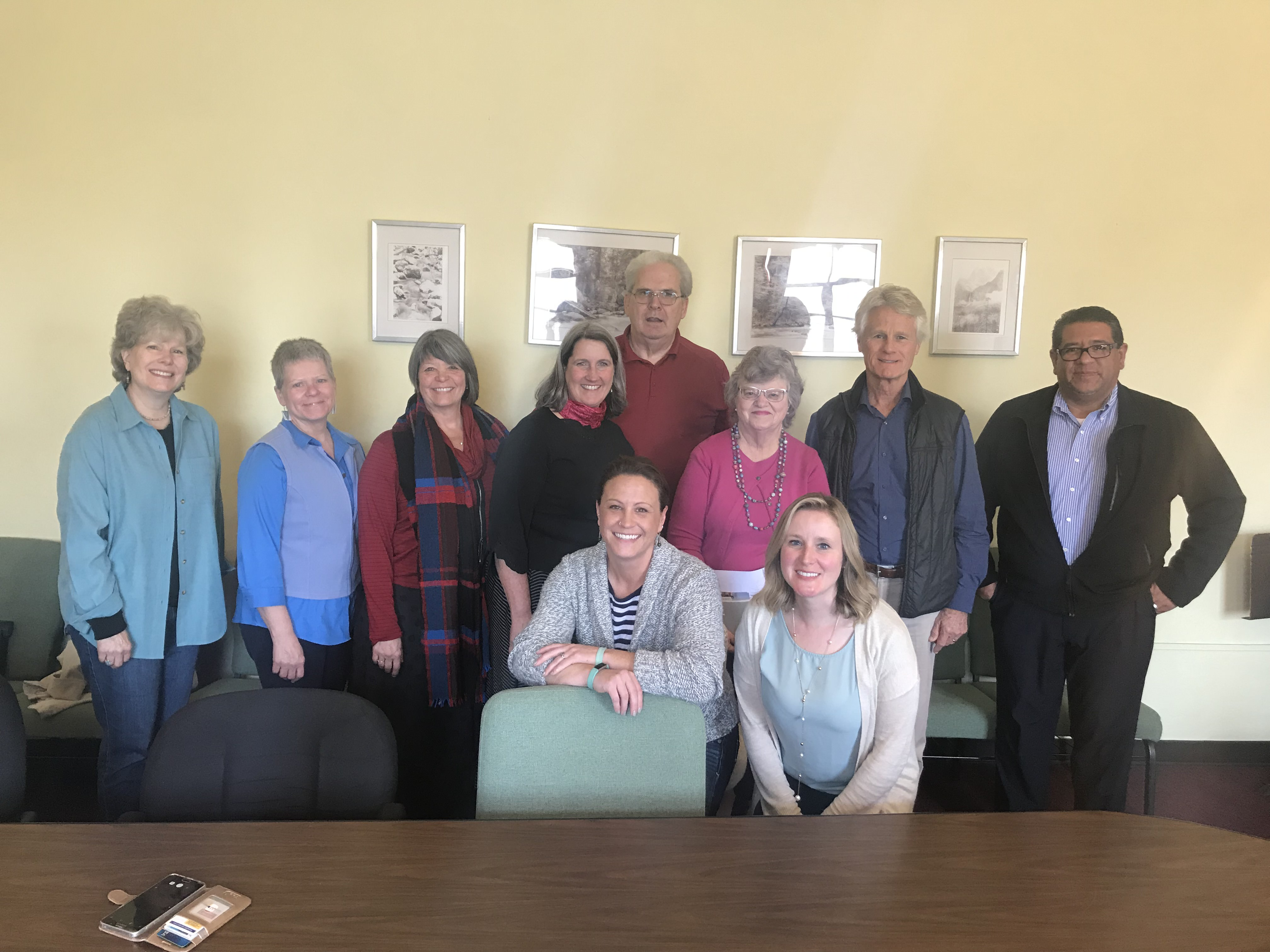 Susan Krehbiel and Laurie Kraus with Presbytery of San Diego and Presbytery of Pacific as they visit with the Director of Safe Harbors, the Rev. Bill Jenkins
