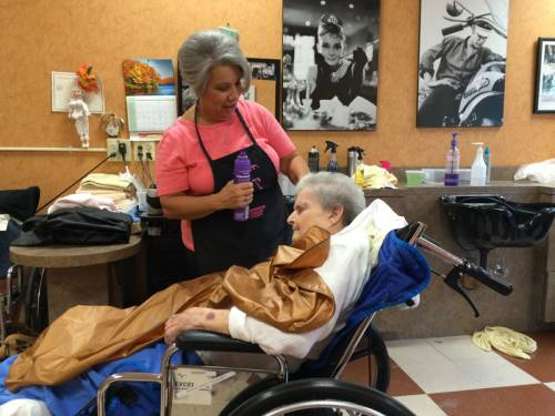 Learning how to gracefully receive care from the hands of others can be a challenge after years of being taught to value self-sufficiency. Even ordinary tasks like getting dressed and washing hair can require the help and care of another. (Photo courtesy of Caroline Vickery)