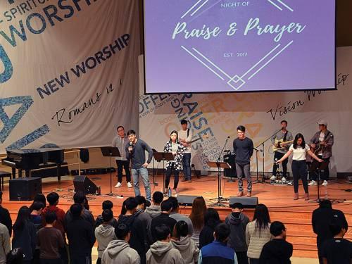 Korean-American worship service