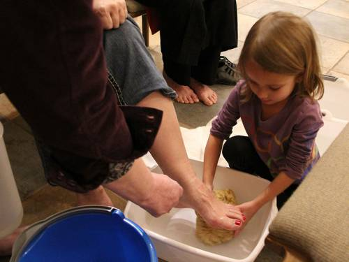 Foot washing on Maundy Thursday