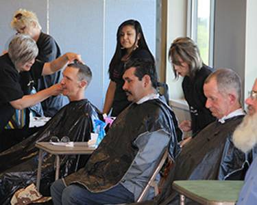 Churches are partnering with non-church groups to help communities thrive, whether it's assisting with job searches or providing haircuts for people who are homeless. (Photo courtesy of First Presbyterian Church of Fort Worth)
