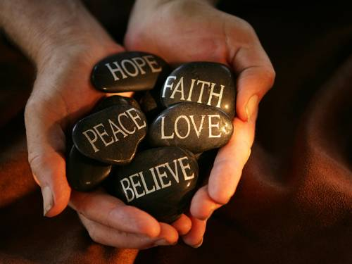 Faith, Hope, Love, Peace, Believe