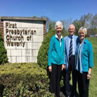 """Nel Huck (left) and Bruce and Karen Henderson made """"seed gifts"""" that encouraged others in their congregation to give generously to mission co-worker sending and support."""