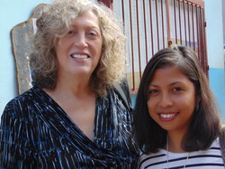 PC(USA) mission co-worker Jan Heckler and FJKM educator Sarah Ravel; photo by Kathy Melvin