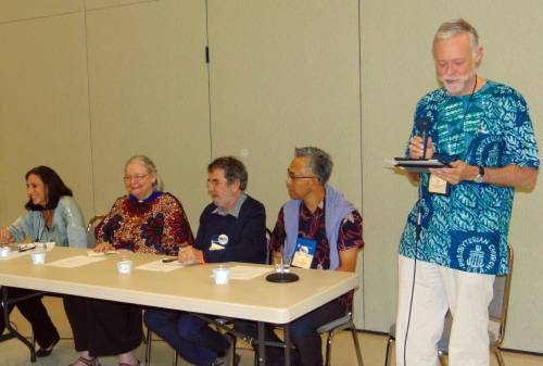 Left to right: Tracey King-Ortega, Janet Guyer, Burkhard Paetzold, Don Choi, and Doug Tilton (Photo by Kathy Melvin)