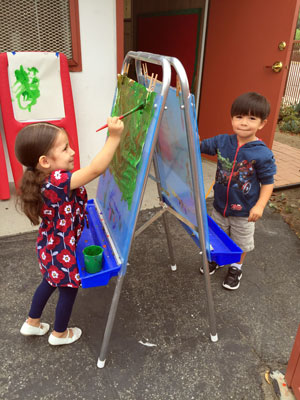 Painting teaches young children many skills, it's creative—and it's fun!
