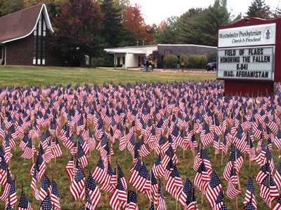 The 2015 'Field of Flags' at Westminster Presbyterian Church in Middletown, New Jersey. (Photo provided)