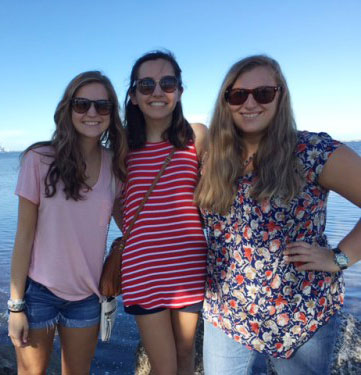 Miami YAVs for 2016/16 Savannah Caccamo, Annie McAlister and Jillian Gardner pictured on a community day. (Photo provided)