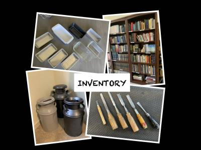 Pictures of a variety of personal possessions to be catalogued and inventoried.