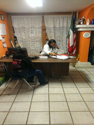Miriam helping recently deported woman connect with family