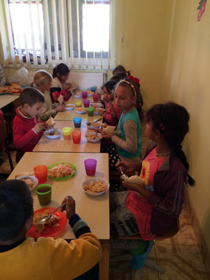 Hot lunch for the after-school program