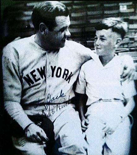 Jack Lorimer with Babe Ruth in 1934. Photo provided