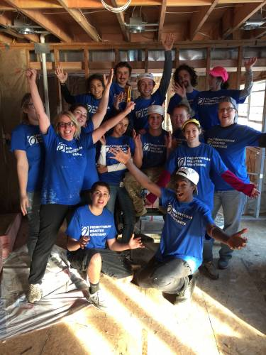 Volunteers from Eventide Community Church joined Presbyterian Disaster Assistance volunteers in 2015 to repair homes damaged by Hurricane Sandy in New Jersey. Photo by Jeanie Shaw.