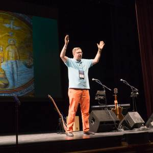 Chip Hardwick speaks on pointing out what you see Jesus doing in others at the Presbyterian Youth Triennium. (Photo by Gregg Brekke)