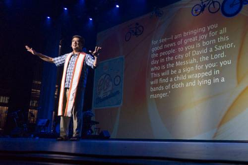 Rodger Nishioka preaches at the opening worship of the 2016 Presbyterian Youth Triennium. (Photo by Gregg Brekke)