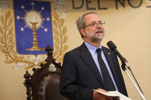 Moderator Pastor Eugenio Bernardini of the Waldensian Church in Italy addresses the 2016 Synod gathering. (Photo provided)