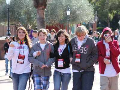 Youth at the Faith in 3D Conference