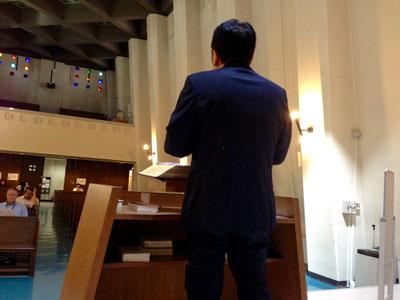 Rev. Shinohara addresses the assembly