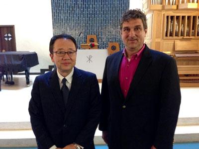 Rev. Shinohara and Thomas Goetz