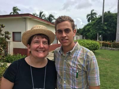 Fernando Lopez Machado and Gretchen Wahl, his 'second mom,' an elder at Fourth Presbyterian Church of Chicago. (Photo provided)