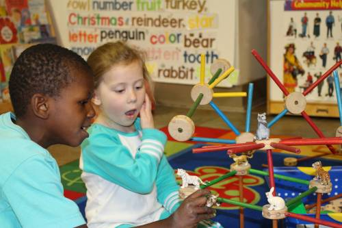 Preschool children at Second Presbyterian Church of Wilkinsburg, Pennsylvania learn the importance of connection and cooperation at a young age.