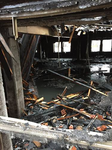The aftermath of the fire at Eastminster. (Photo by Gilbert Varela)