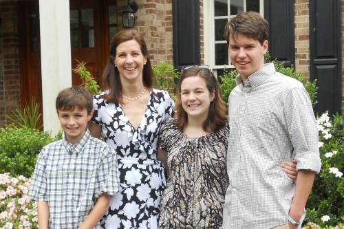 Lucy Crain with her children (l-to-r) Jacob, Catie and Thomas at Easter 2016. (Photo provided)
