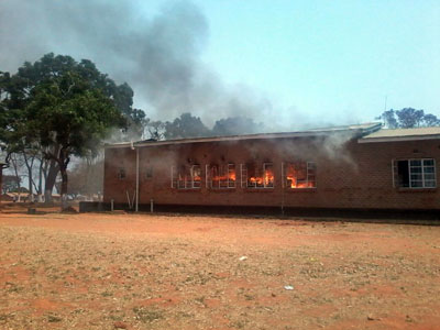 Fire at the Ekwendeni College of Health Sciences, September 28, 2016