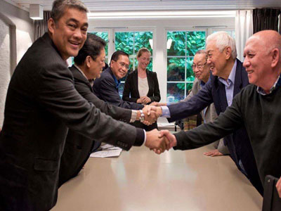 Formal peace talks ended with a peace agreement. Photo by KODAO.