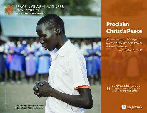 Peace & Global Witness Poster 2017