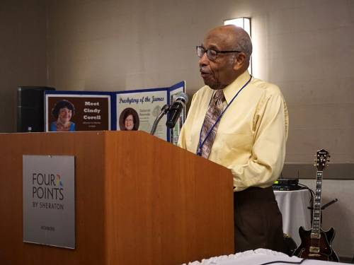 James Reese speaks at the POAMN/ARMSS conference. (Photo by Emily Enders Odom)