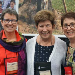 Ann Philbrick, Patrice Hatley and Vera White (l-to-r) at GA 222 in Portland, Oregon. (Photo by Emily Enders Odom)