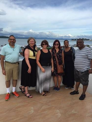 The PC(USA) delegation in Tacloban, on the island of Leyte, the epicenter of Typhoon Haiyan. (Photo by Seku Sillah)