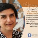 Lucy Dergarabedian prayer card