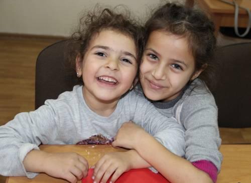 refugee girls in armenia