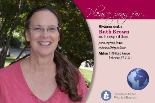 Ruth Brown prayer card