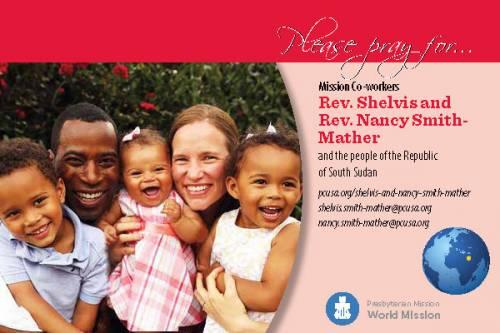 Shelvis and Nancy Smith-Mather prayer card