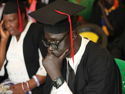 Major Machar graduated from RPI, 2016, determined to transform the army