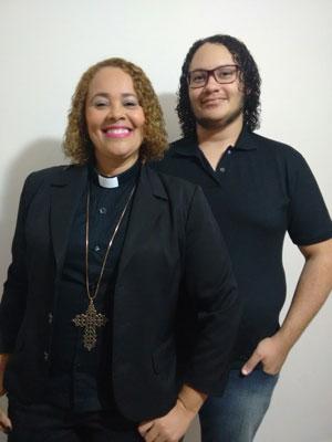 Rev. Cacilene Nobre and son João