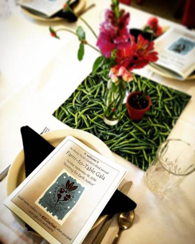 Program from the 2016 Stony Point Center Farm-to-Table Gala. (Photo by Chip Hardwick)