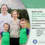Prayer card - Jonathan and Emily Seitz