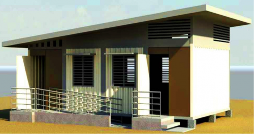 A classroom to be built from shipping containers (Illustration courtesy Silliman University)