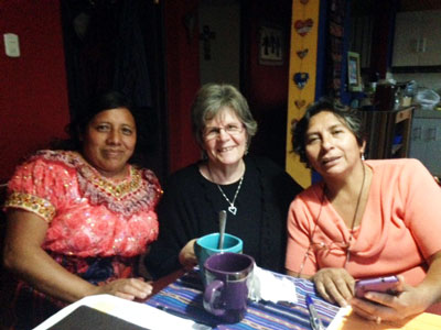 Sandi with Sinodica leaders Maura and Betty