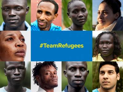 The 10 athletes on Team Refugees hail from Syria, South Sudan, Ethiopia and Democratic Republic of Congo. (Photo courtesy UNHCR)