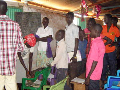 Class in an Internally Displaced (IDP) Camp