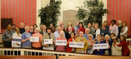 PC(USA) members Choose Welcome at Compassion, Peace and Justice Advocacy Day in Washington, D.C. Photo by Paul Olson