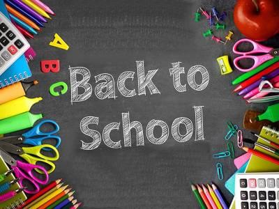 Blackboard with the words Back to School written on it
