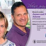 James and Nancy Adams prayer card