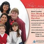 Rev. Mark Adams and Miriam Maldonado Escobar prayer card